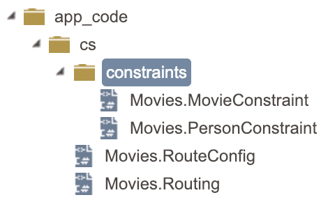 Constraint files in Contensis