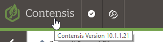Contensis version hover 10.1