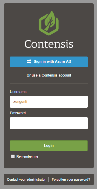 Test Azure AD single sign-on in Contensis