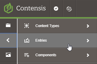 Content types and entries